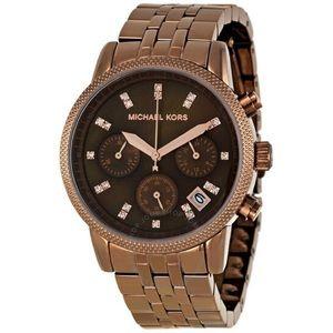 Michael Kors 'Ritz' Chronograph Brown/Bronze Watch